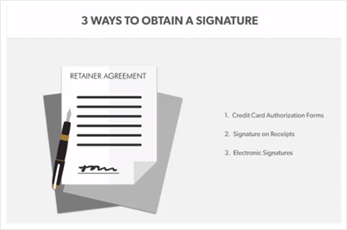 Obtain Signatures from Cardholders