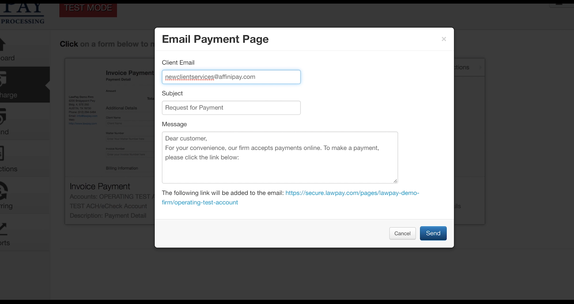 Email a Payment Page Link