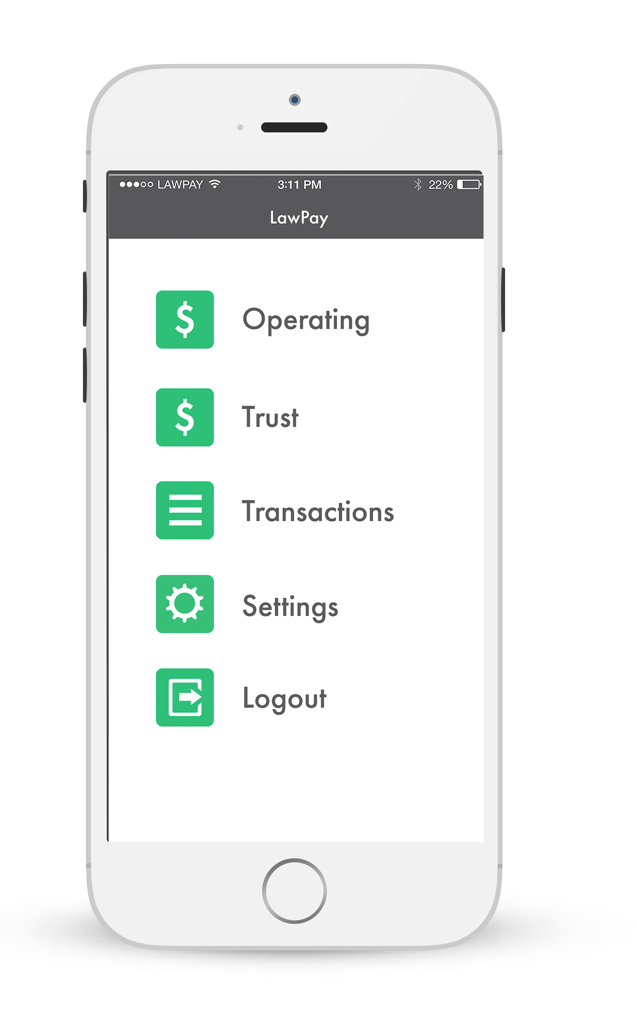LawPay App Screenshot