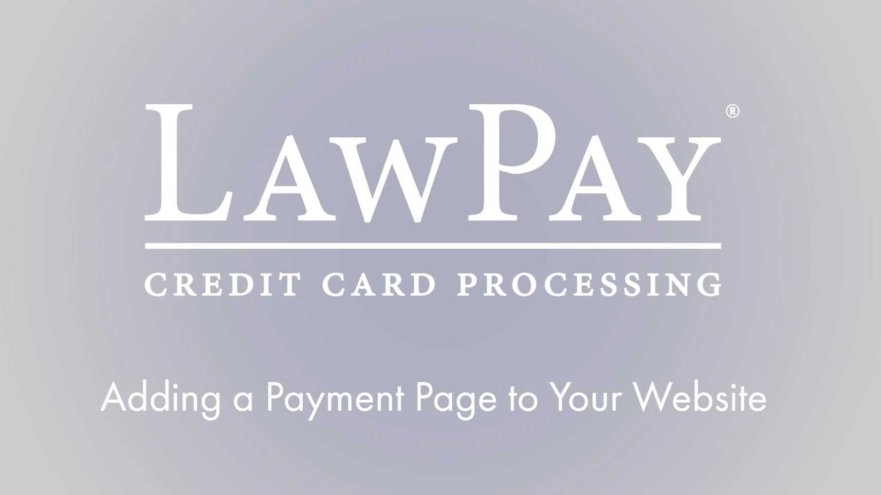 Add a Payment Page